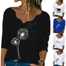 Women Long Sleeve Tops T-Shirt Lady Loose Casual Blouses Tee Shirts UK Plus Size