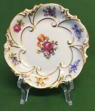 """JLMenau Graf Von Henneberg Porzellan Floral Trinket Dish East Germany 4 1/4"""""""