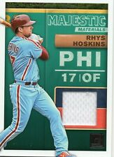 2019 PANINI DONRUSS MAJESTIC MATERIALS RHYS HOSKINS GAME USED JERSEY PHILLIES