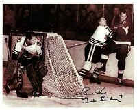 Gordie Howe & Ted Lindsay mano-a-mano...pals for life?  Not!