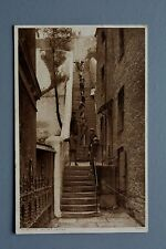 R&L Postcard: Falmouth Jacob's Ladder, Long Stairs Steps, 1920s Photochrom