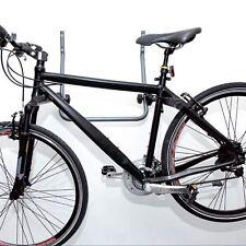 Bicycle Wall Mounted Folding Steel Bike Storage Rack Hook 2 Bikes Shed Garage UK