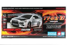 Tamiya 58641 1/10 RC TT02-D Drift Spec Car Kit Mitsubishi Lancer Evo X w/ESC+LED