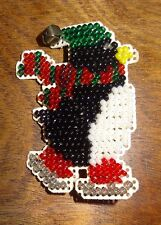 New Penguin Pin Brooch Glass Beads Jewelry Finished Mill Hill Handmade Ice Skate