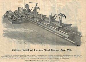 c1898 CHASE TURBINE ~ WATER WHEELS, CIRCULAR SAW MILLS, SHINGLE MACHINES, LATHS