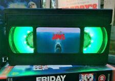 Jaws Shark VHS Night Light, Horror Movie, Action, Bed Light, Desk Light, Film