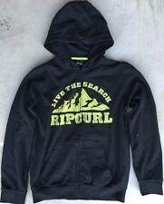 Boy's Ripcurl Sz 16 Hoodie Blk/Ylw Hooded Sweatshirt