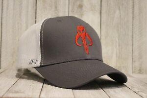 Mandalorian Truckers Hat Cap Boba Fett Bounty Hunter Star Wars Shirt Style Logo