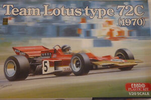 MAQUETTE 1/20 EBBRO F1 LOTUS 72 C 1970 RINDT