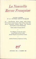 LA NOUVELLE REVUE FRANCAISE n° 266.  Février 1975 . Jacques Rivière