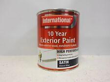 International 10 Year Exterior Satin - Oxford Blue - 750ml - High Performance