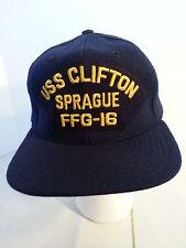 USS Clifton Sprague FFG-16 Military US Navy Ball Cap Hat / Size Medium Large