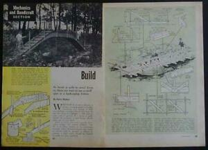 Foot Bridge 1962 How-To build PLANS Arch Truss 6 styles up to 32'