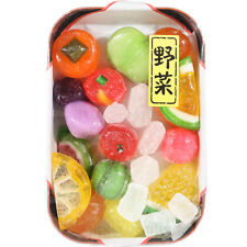 Japan Konpeito Sugar Plum Candy Deluxe Tray Set 110g - Mixed Vegetables & Fruits