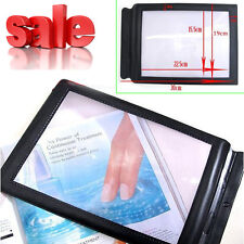 A4 Full Page Reading Aid Lens 3X Magnifier Sheet Magnifying Glass Big Book Read