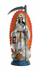 Santa Muerte Saint Holy Death Standing Religious Statue White Tunic Purification