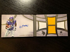 2013 Topps 5 star Cordarrelle Patterson /38 Auto patch rookie booklet Patriots
