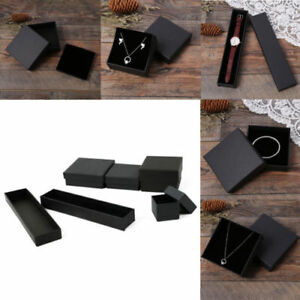 Black Empty Gifts Box Necklace Watches Ring Bracelets Jewellery Box Present Case