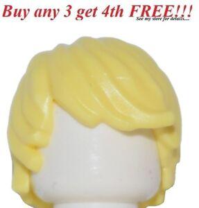 ☀️NEW Lego Minifig Hair Male Boy Yellow Blonde Tousled Side Swept Surfer Ninjago