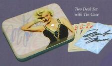 MARILYN MONROE Hollywood Star Legend 2 DECKS PLAYING CARDS SET with TIN New