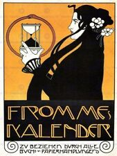 Art Nouveau Calendar Decorative Posters & Prints