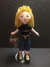 "Rare HTF Bloomingdales Plush Girl Doll 2003 Stuffed 13"" Yellow Yarn Hair Issues"