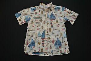 Reyn Spooner Hawaiian Aloha Shirt Sailing Sail Boat XL