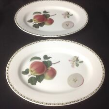 """QUEENS ROYAL HORTICULTURAL SOCIETY HOOKERS FRUIT  two 15"""" Platters"""