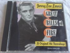 JERRY LEE LEWIS - GREAT BALLS OF FIRE:  20 ORIGINAL HIT RECORDINGS, Audio CD