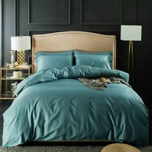 Nordic Silkly Egyptian Cotton Linens Queen King Size Fitted Sheet Bedding Set