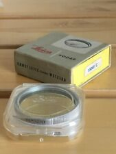 Leica HOOAR Yellow 0 Filter 42mm in Original Case & Box GERMANY