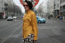LA LUNA Damen Bluse yellow 90er True VINTAGE 90´s women blouse shoulder pads