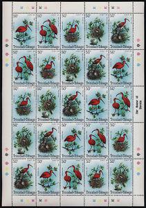 Trinidad & Tobago 328 sheet MNH Birds, Scarlet Ibis