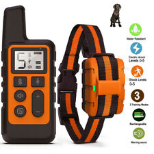 Dog Training Collar Rechargeable Waterproof Remote Electric Pet Shock Vibration