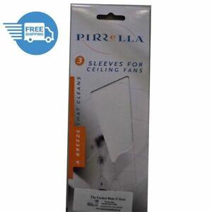 Ceiling Fan Sleeves / Socks Pirrella Blade Cover WHITE 3 Pk Catch Dust Fan Sock
