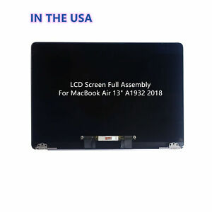 WARWOLFTEAM Replacement 13.3 inches 2560x1600 Full LCD Screen Complete Top Assembly for MacBook Air Retina 13 A1932 Late 2018 2019 EMC 3184 Gold