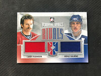 2012-13 ITG FOREVER RIVALS ROBINSON/SALMING DUAL GAME-USED JERSEY #R-2