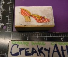 HIGH HEEL SHOE POLKA DOTS RUBBER STAMP CO-MOTION COMOTION MAY BE