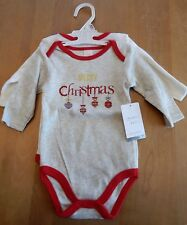 Modern Baby Merry Christmas Ornaments Unisex Bodysuits Set of 2 6-9 Months