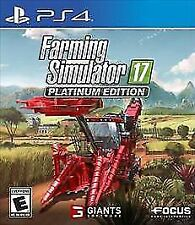 PLAYSTATION 4 FARMING SIMULATOR 17 PLATINUM EDITION BRAND NEW VIDEO GAME
