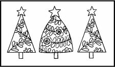 Personal Impressions Tinchies Christmas Trees Mini Clear Stamp Craft 016