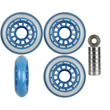 Inline Wheels Multipurpose Clear/Blue 76mm 78a Set of 4 Abec 9