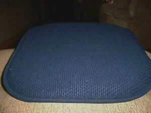 """CHAIR CUSHIONS NONE SKID ( 4 ) BLUE HONEYCOMB PATTERN 16 """" X 16 """" POLYESTER VGC"""