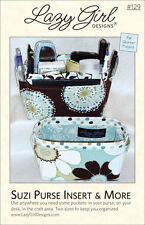 SUZI PURSE INSERT & MORE Sewing Pattern by Lazy Girl Designs~ Fat Qtr Project