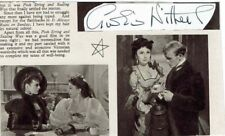 Googie Withers Actress within these walls  Hand signed paper + clipping on card