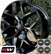 """20"""" inch 20 x9"""" Wheels for Chevy Avalanche Satin Black Rims CK156"""