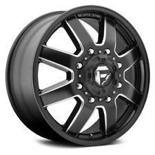 Fuel Maverick Front (New) D538 17x6.5 8x200 ET116 Black/Milled Rims (Set of 4)