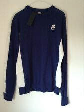 BNWT 100% Auth Karl Lagerfeld, Ladies Cashmere Blend Navy Blue Sweater. L