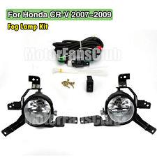 2007-2009 Honda CRV CR-V Clear Lens Driving Fog Lights Bumper Lamps w/ Switch