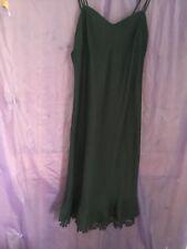 Ladies Black Linen M & S Per Una Strappy Dress Size 16L